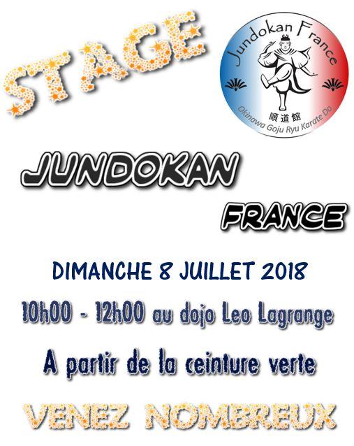 Rassemblement et stage Jundokan France @ Dojo double